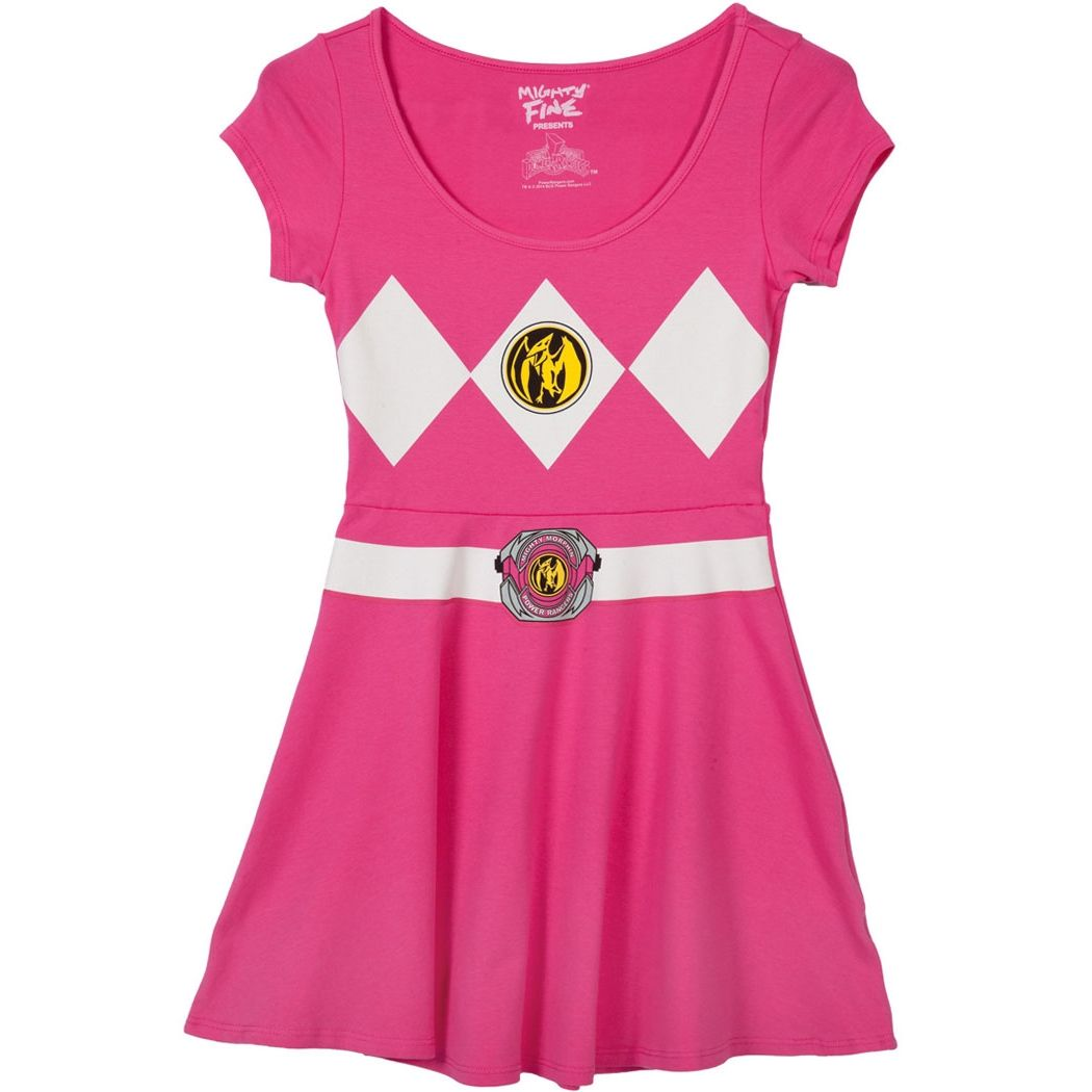 Pink Power Ranger Costume Skater Dress | Costume ideas | Pinterest ...