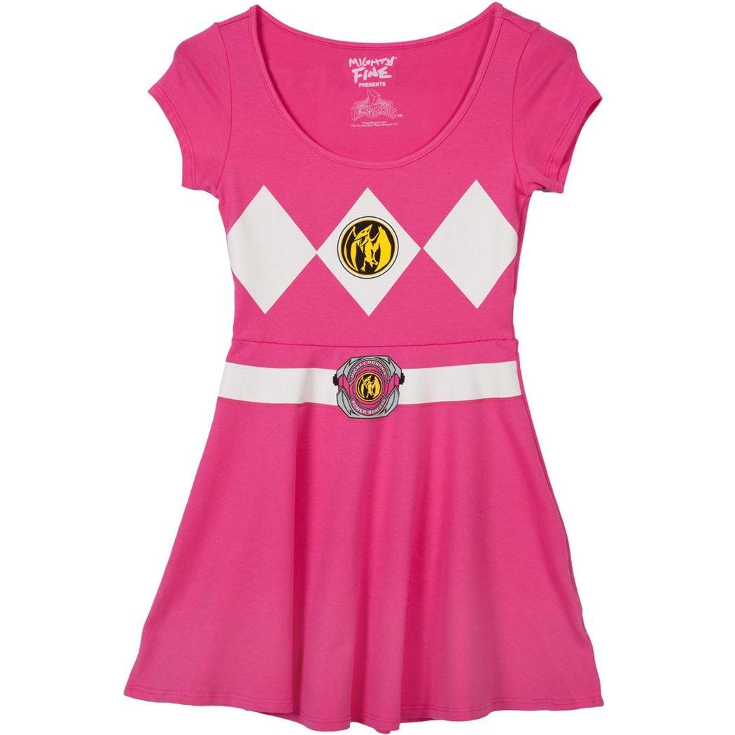 Pink Power Ranger Costume Skater Dress | Costume ideas | Pinterest ...