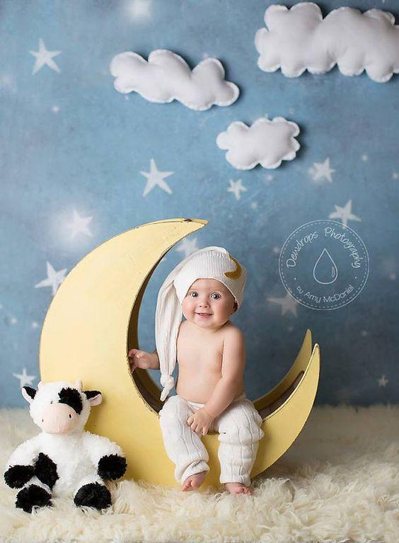 The original moon prop newborn photography prop moon moon photo prop wood moon prop