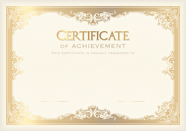 Certificate Template Png Clip Art Image Pinteres