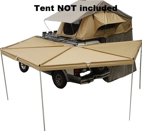 Batwing Sector Awning 4wd Foxwing Awning Alloy Joints 280g Canva