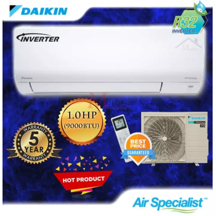 [WEST M'SIA] Daikin 1.0hp Inverter Wall Mounted Air