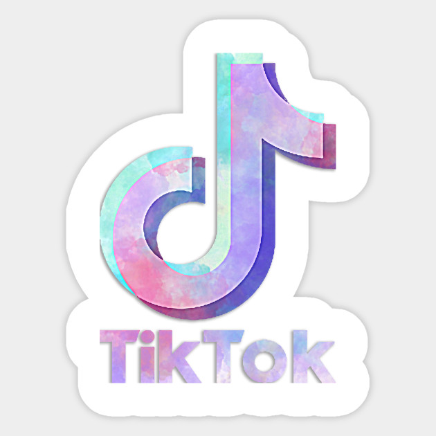 Tik Tok Watercolor Tiktok Sticker TeePublic in 2020
