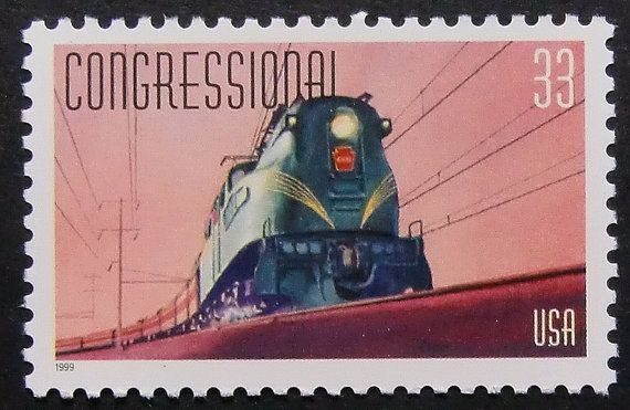 Congressional Train USA Framed Postage di PassionGiftStampArt