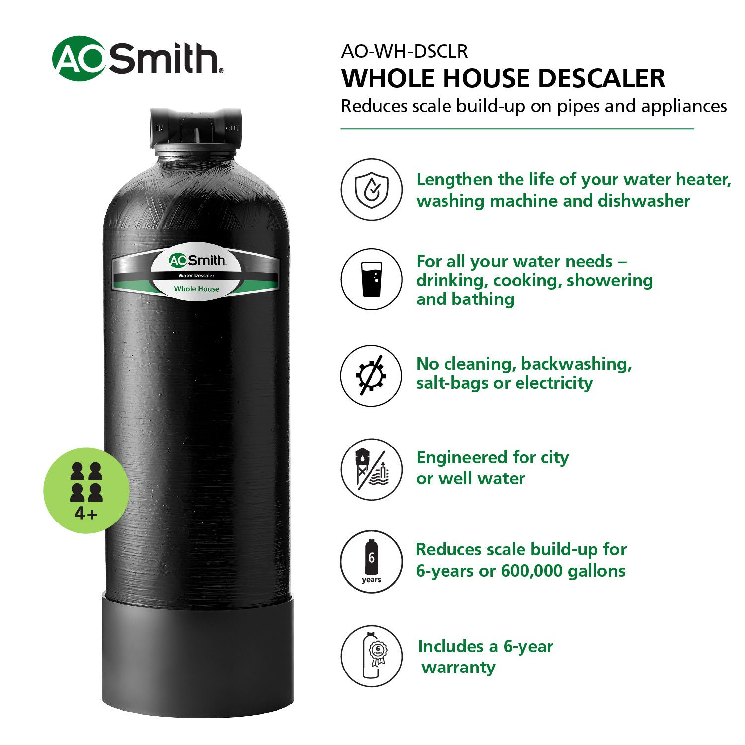 A O Smith Whole House Salt Free Water Descaler Lowes Com Water Filtration Water Filtration System Water