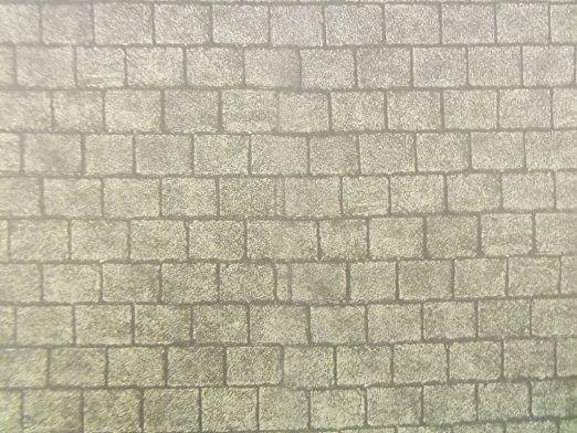 Papel tapiz texturizado dise o ladrillos grises para for Papel texturizado pared