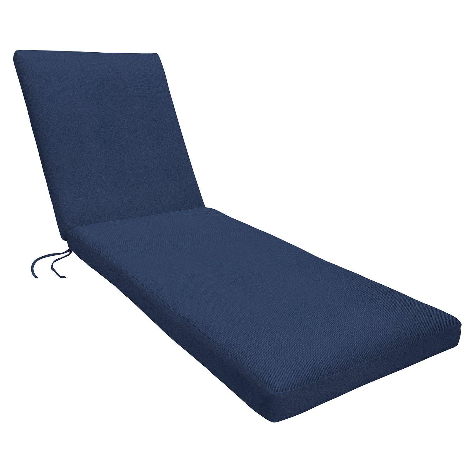 - Eddie Bauer Sunbrella Chaise Lounge Cushion - Knife Edge Canvas