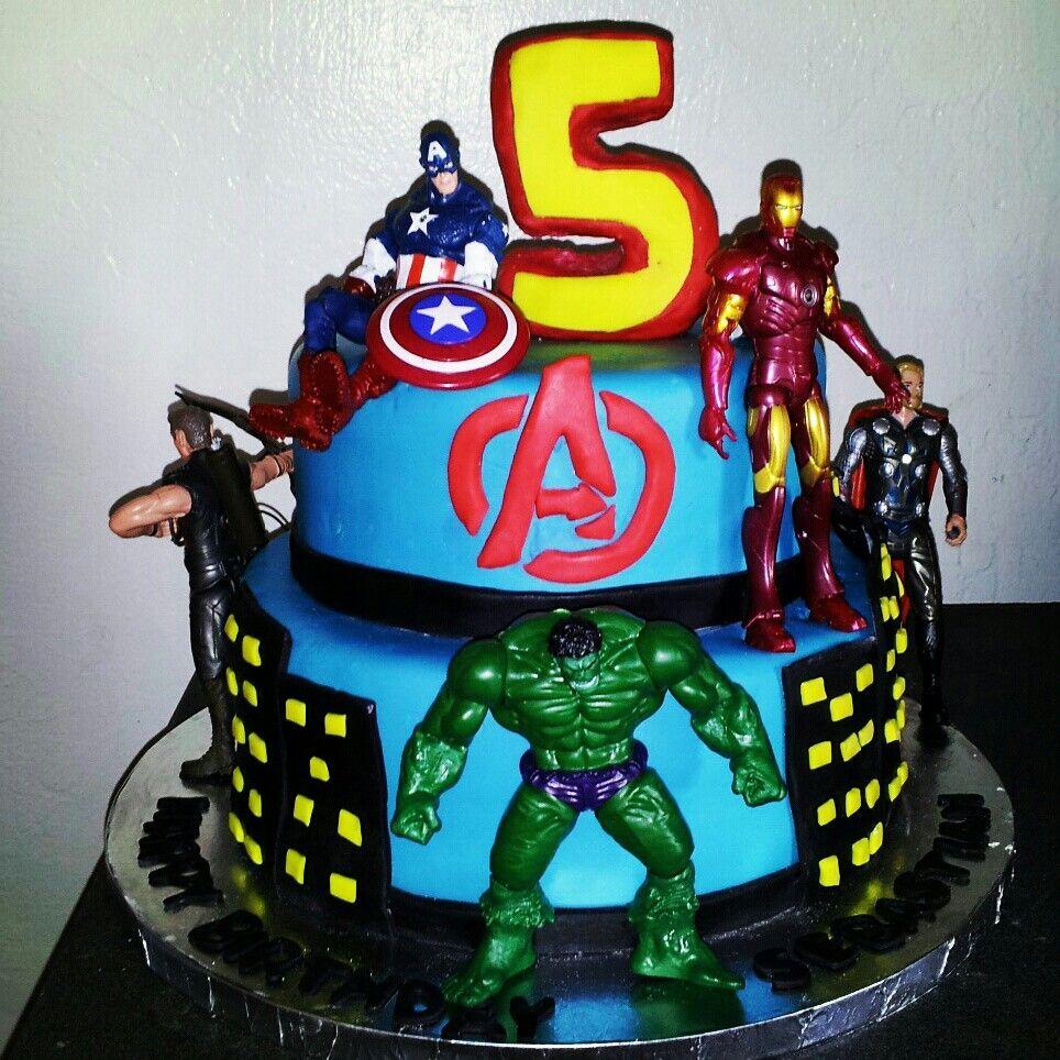 Avengers cake My cakes Pinterest Avenger cake Cake and Birthdays