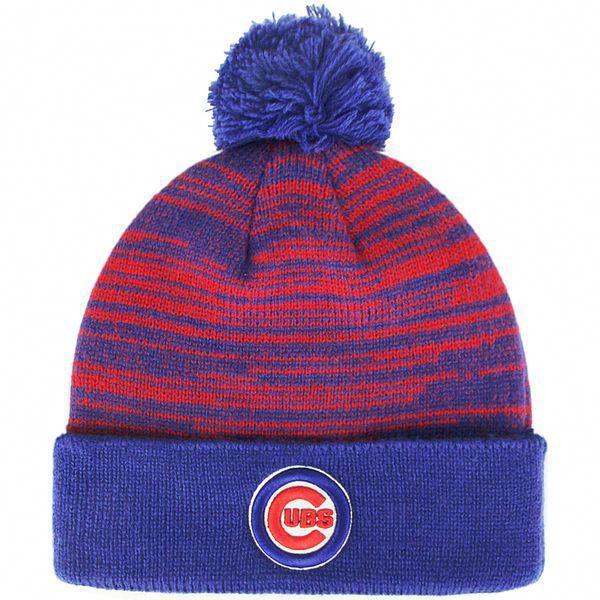 c846b8351a3 Chicago Cubs Mass Brush Cuffed Knit Hat  ChicagoCubs  Cubs  MLB  flythew