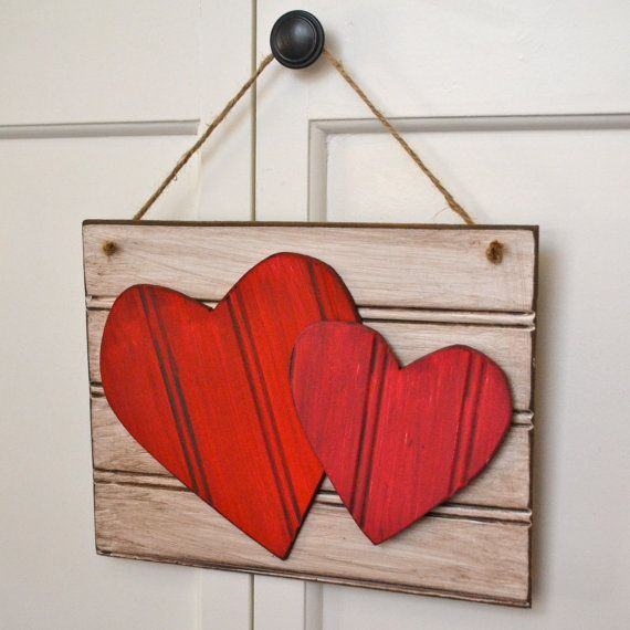 Distressed Wooden Heart Sign