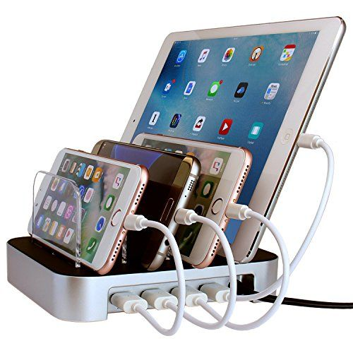Simicore Usb Charging Station Organizer For Smartphones Tablets Other Gadgets Multiple Usb Multiple Usb Charger Phone Charging Station Phone Docking Station
