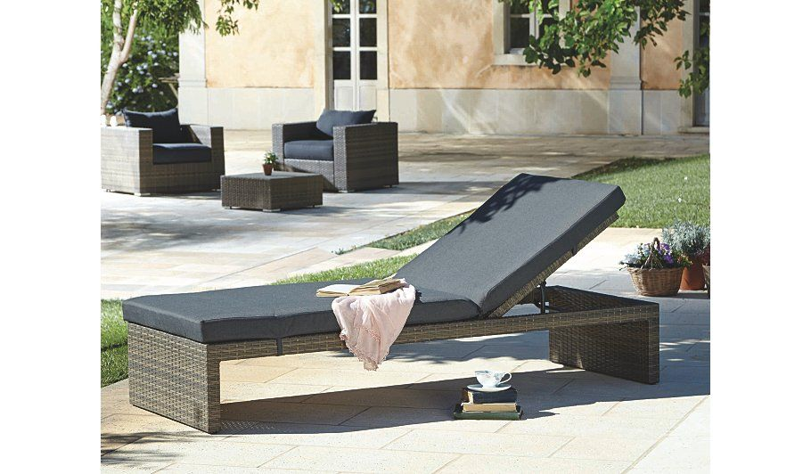Magnificent Borneo Multi Position Cushion Lounger Garden Furniture Bralicious Painted Fabric Chair Ideas Braliciousco