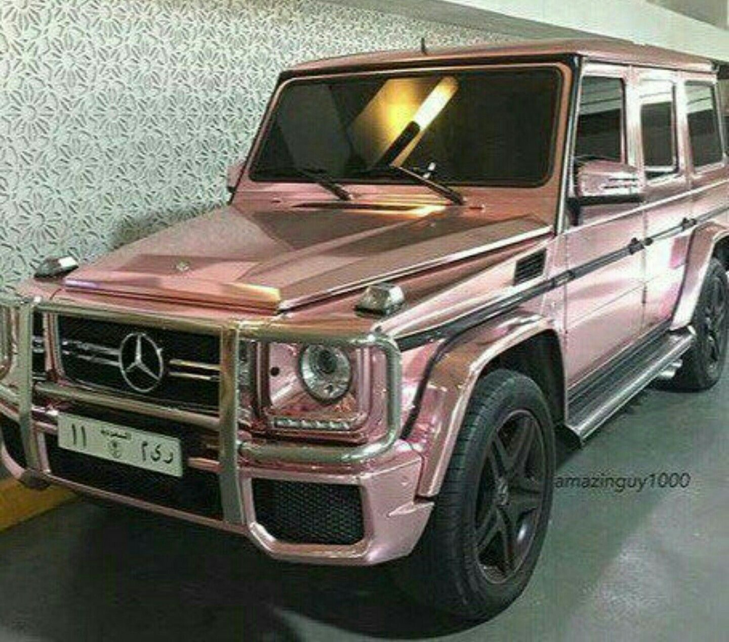 Mercedes G Wagon Rose Gold Car Pink Point Of View Used Luxury