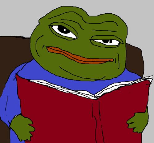 Funny Green E Book Immagine Su We Heart It Frog Meme Memes Cartoon Memes