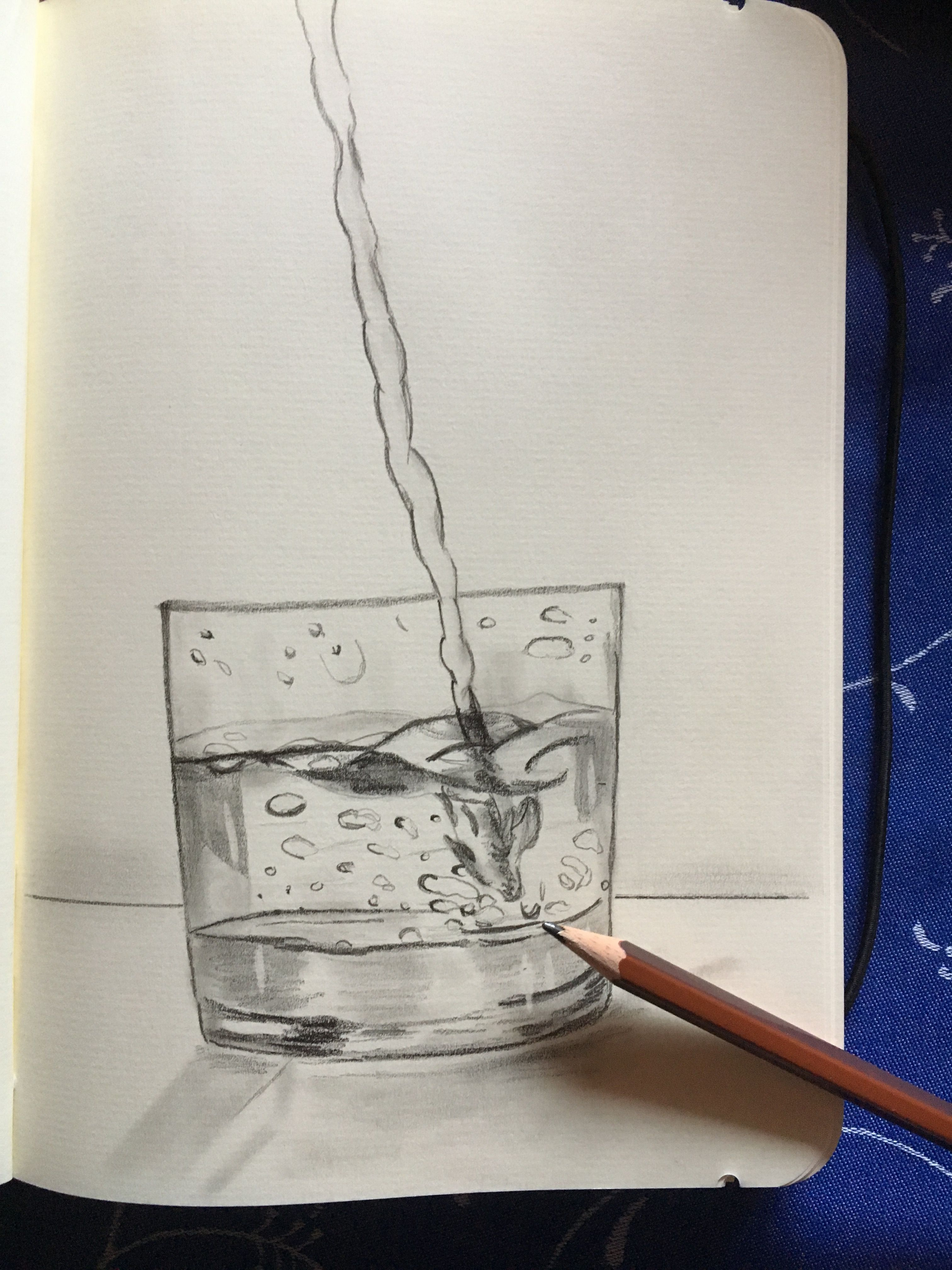 Wasserglas Zeichnen Mit Bleistift Wasserglas Bleistiftzeichnung