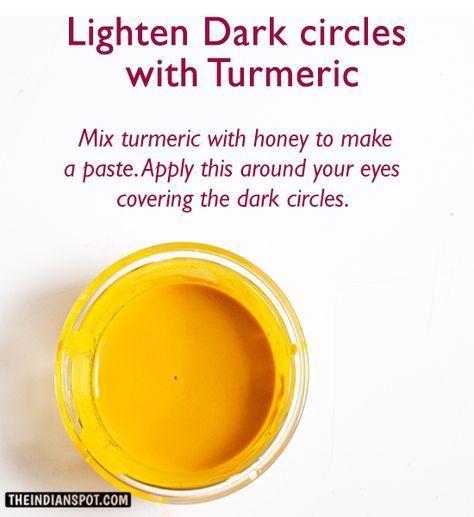Get rid of Dark circles with Turmeric | Homemade skin care ...
