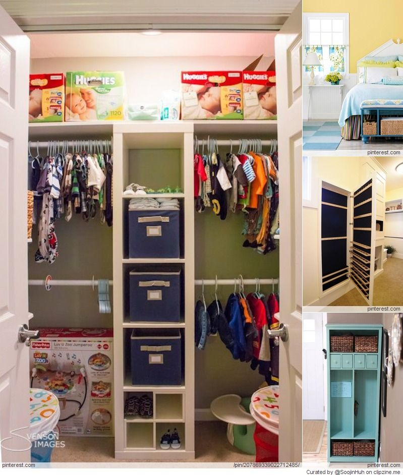 Diy Closet Organization Ideas Pinterest Part - 23: Favorite Nursery Closet Organization Style - Love The Middle Divider  Shelves And Double Hanging Bars - Particularly For The Twinsu0027 Closet. Also  A Great Idea ...