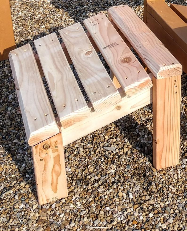 2x4 Foot Stool Plans For 2x4 Adirondack Chair Etsy in