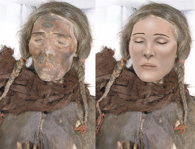 An artist depicts what a Celtic mummy found in China may ...