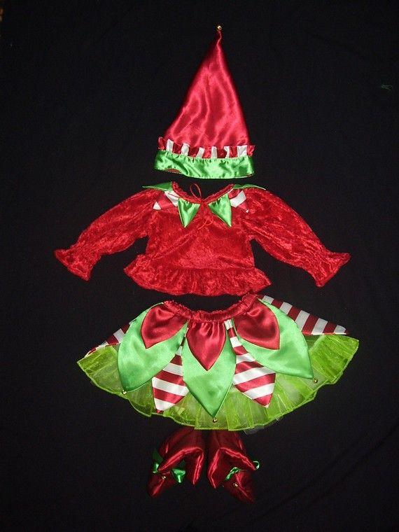 Chistmas Elf Costume Set- Toddler sizes