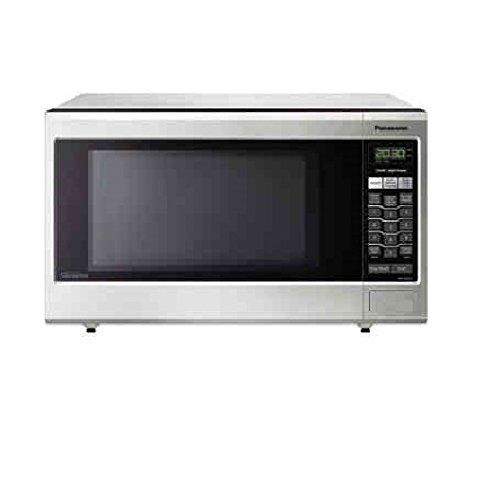 Panasonic Stainless Steel Microwave Oven 1 2 Cubic Feet 1200 Watts Inverter Technology With Images Stainless Steel Microwave Built In Microwave Oven Built In Microwave