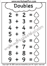 Addition Doubles Free Printable Worksheets First Grade Math Worksheets 2nd Grade Math Worksheets 3rd Grade Math Worksheets