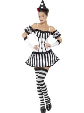 Dames Halloween Kostuum Diva Fever Mime Clown P1CxqwIIvn