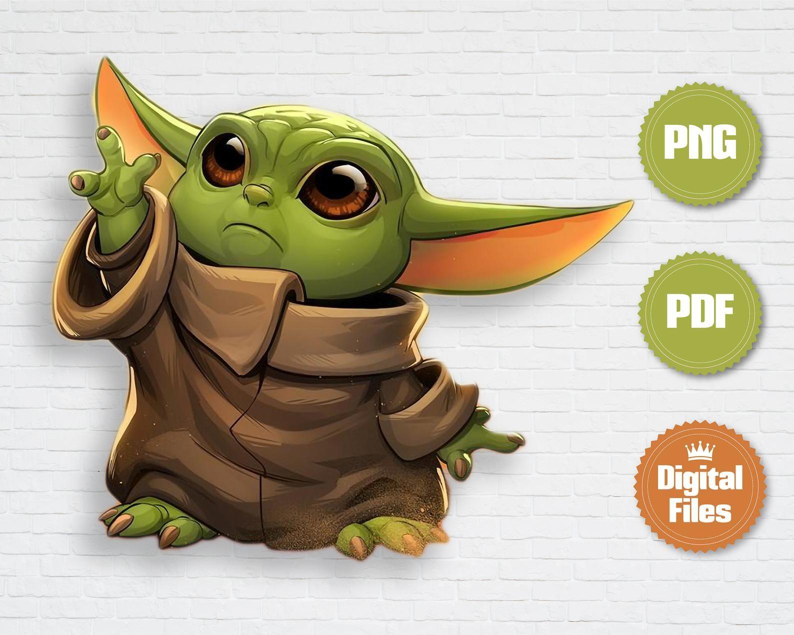 Baby Yoda Character Clips