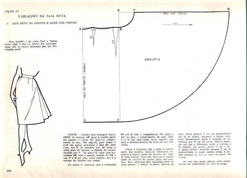 Free Vintage Skirt Sewing Draft Pattern / Tutorial   Pattern Making ...