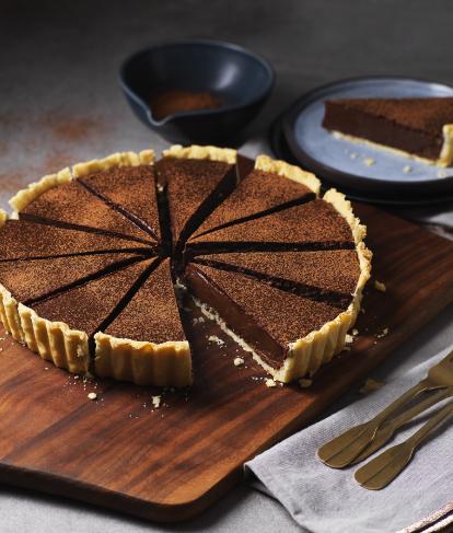 Baked Chocolate Tart Recipe Recipe In 2020 Chocolate Tarts Recipe Tart Recipes Chocolate Tart