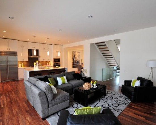L Shaped Couch Design Ideas Pictures Remodel And Decor Livingroom Layout Living Room White Open Concept Kitchen Living Room