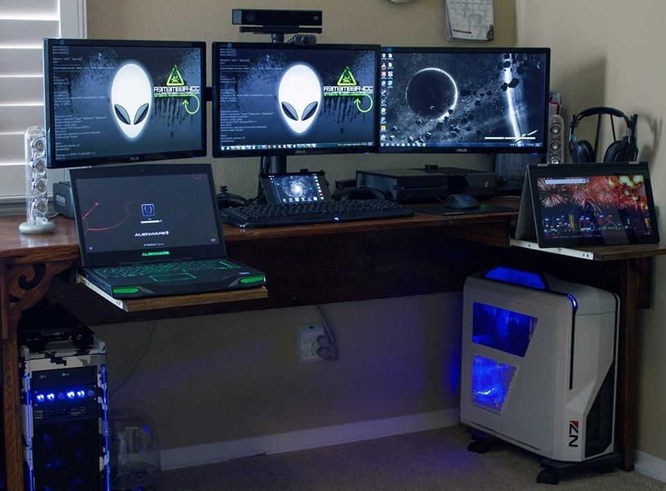 alienware m14x joseph c computer desks monitors pinterest alienware pc and gaming setup. Black Bedroom Furniture Sets. Home Design Ideas