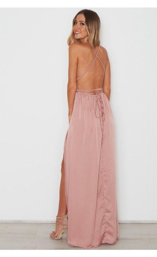 1d823a1b6bb Akela Maxi Dress Dusty Pink