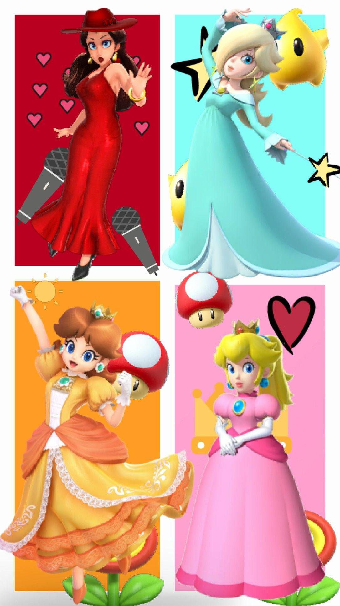 Princess Peach Daisy And Rosalina Also Mayor Pauline Mario And Princess Peach Peach Mario Super Mario Princess