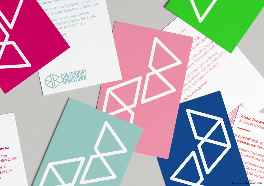 New logo and identity for canterbury bankstown council by frost business cards reheart Images