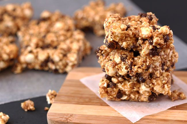 These Sweet and Salty Popcorn Bars chewy, flavourful and full of fibre- exactly what you've been waiting on to spice up your popcorn on movie nights.