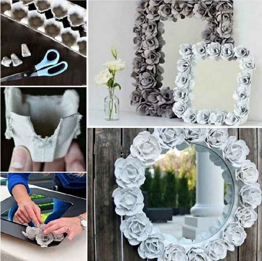 Easy DIY Egg Carton Mirror Pictures, Photos, and Images