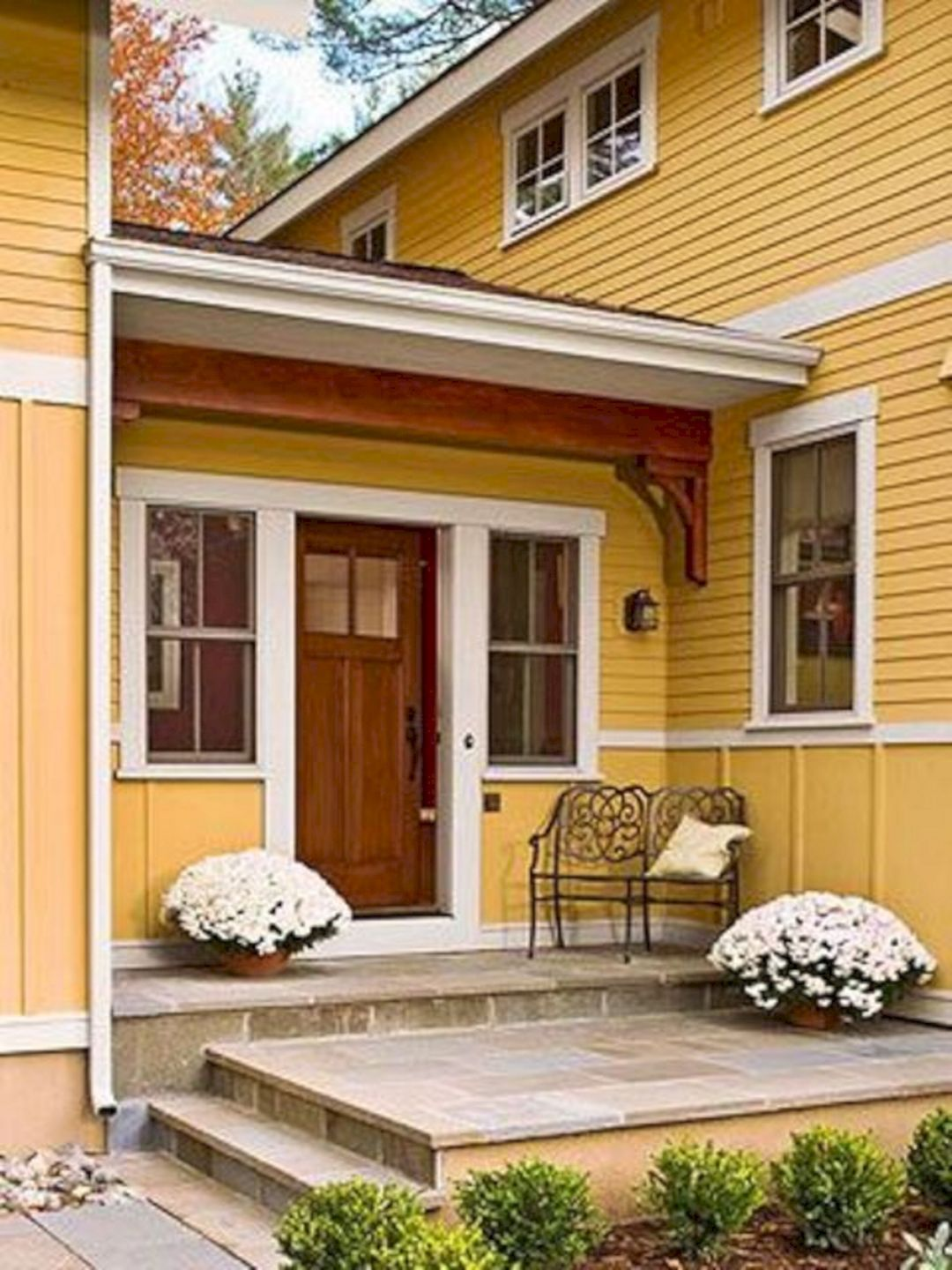 Small home front porch ideas in home exterior design