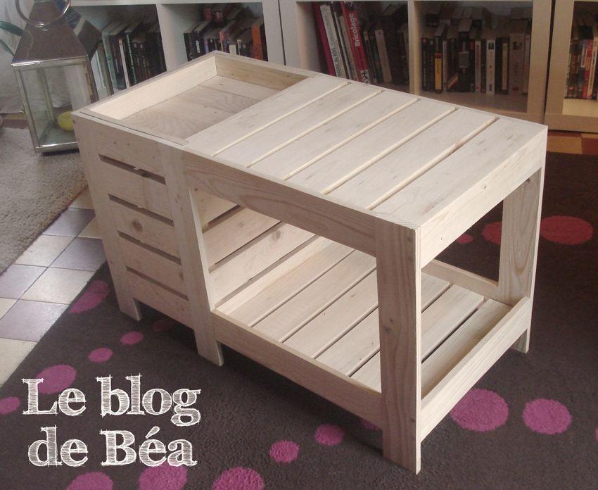 Table En Bois De Palette table basse en bois de palette avec coffre de rangement | what to do