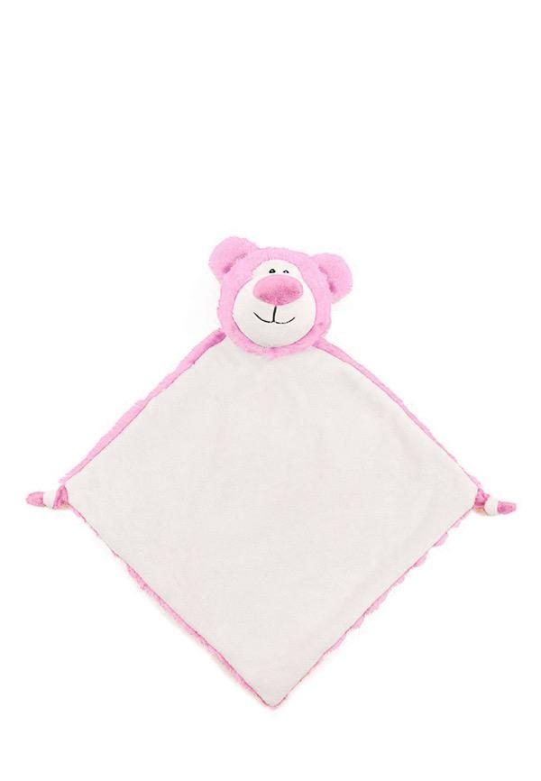 Cubbie Lovies with Personalization - Cubbyford - Pink Bear
