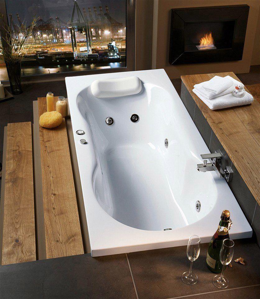 Badezimmerdesign mit jacuzzi ottofond whirlpoolwanne julia breitetiefe in cm