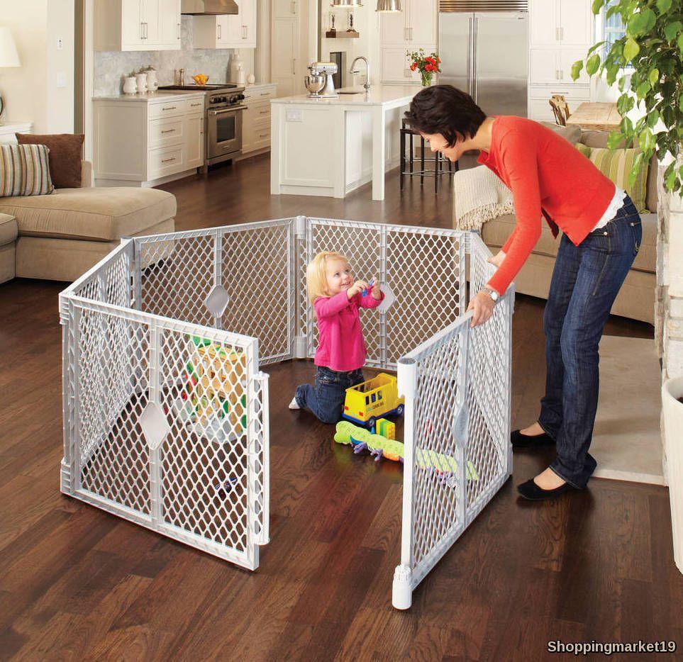 Baby Safety Fence Gate Door Superyard Xt Portable Playard Indoor