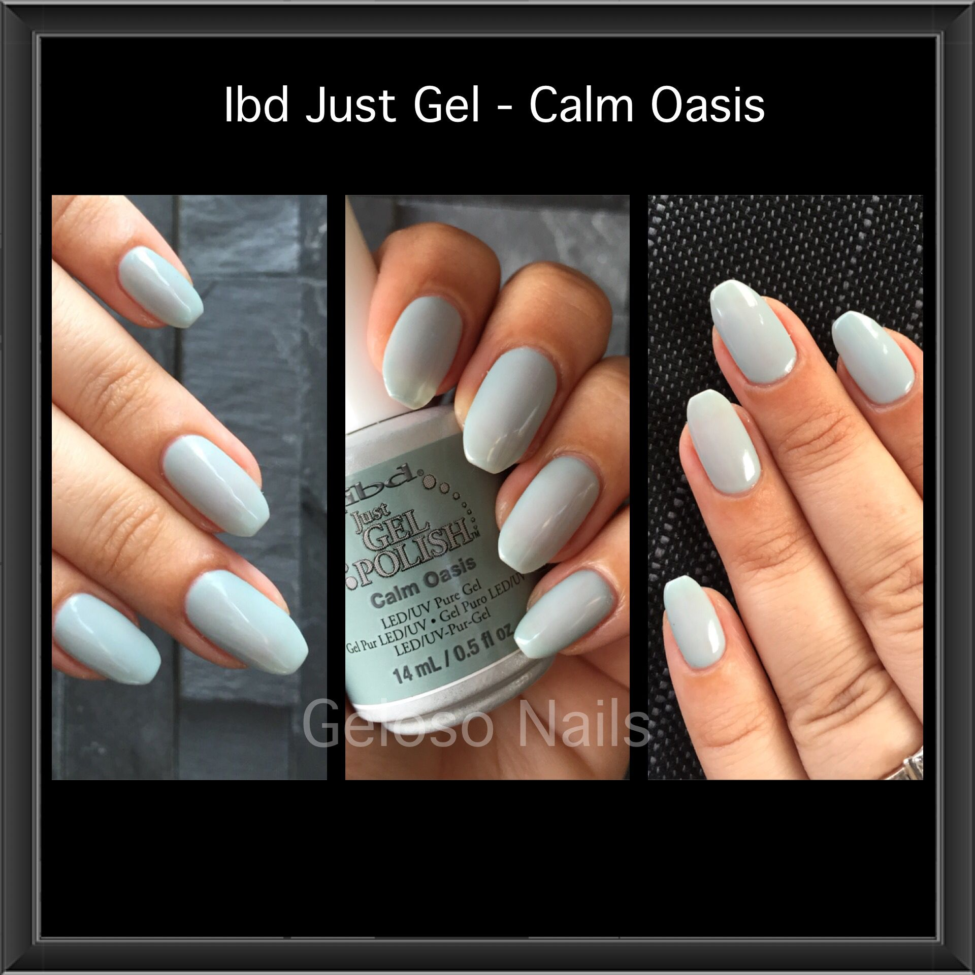 calm oasis ibd gel swatches