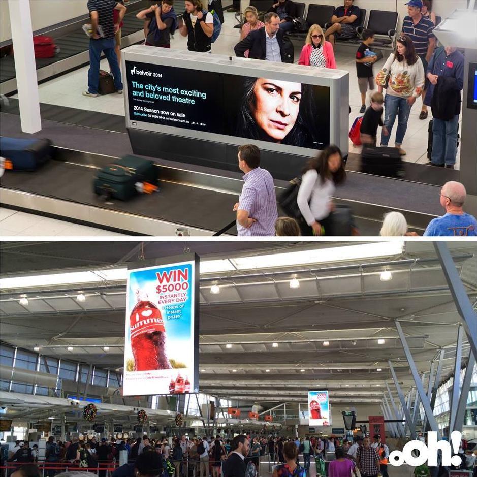 Sydney Airport digitalsignage upgrade bolsters oOh!'s Fly