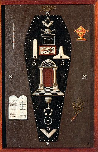 Freemasonry: #Masonic Symbolic Plate art chart trestle tracing board.: