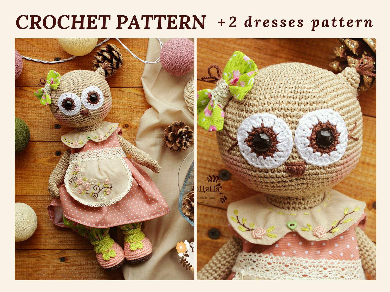 Boho Bohemian Owl Handmade Amigurumi Stuffed Toy Knit Crochet Doll ... | 1125x1500