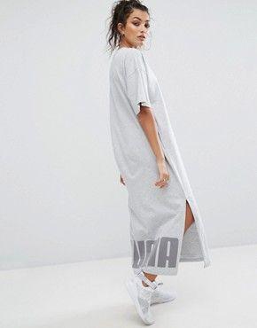 f0579bf68 Puma T-Shirt Maxi Dress In Black   m   Maxi shirt dress, Dresses ...