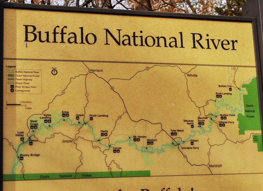 Map Of The Buffalo River The Buffalo National River In Nw Arkansas