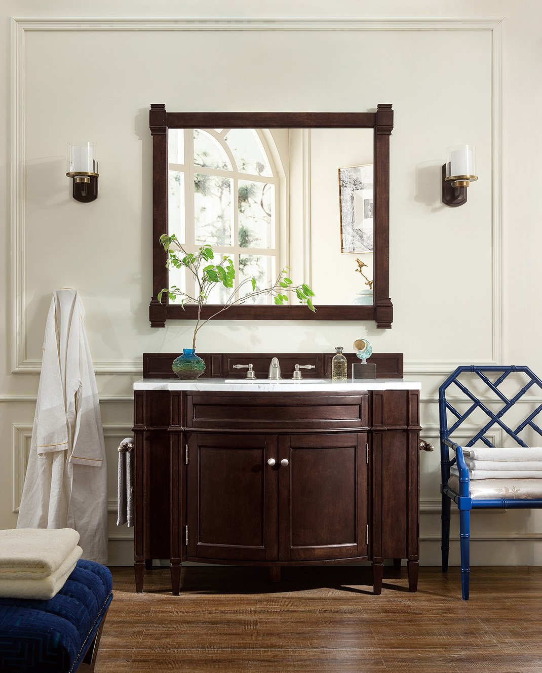 46 Brittany Burnished Mahogany Single Bathroom Vanity Single