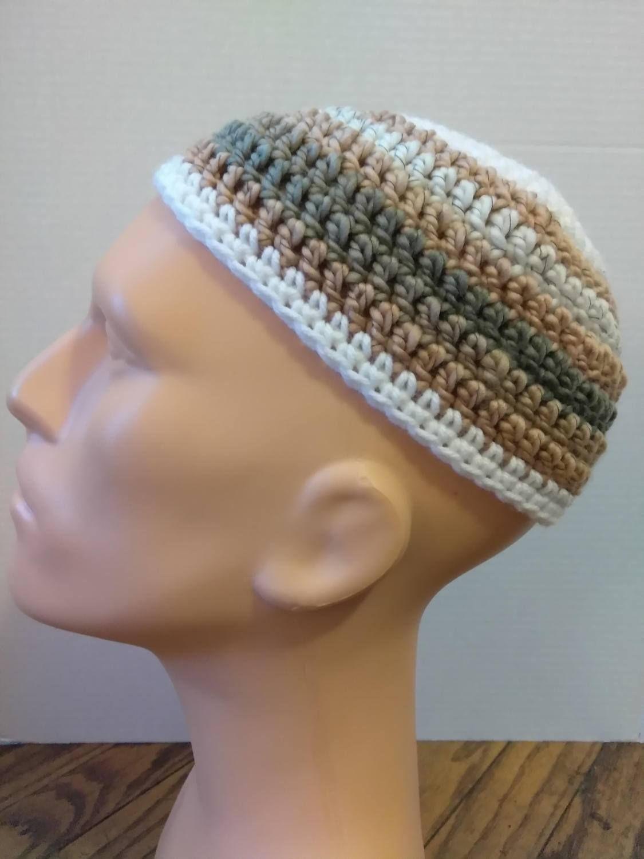White tan and gray kufi beanie skullcap crochet small by white tan and gray kufi beanie skullcap crochet small by nadeerah on etsy bankloansurffo Choice Image